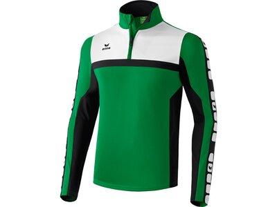 Erima Kinder Jacke Classic Team Trainingsjacke mit Kapuze Grün