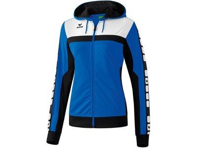 ERIMA Damen CLASSIC 5-CUBES Trainingsjacke mit Kapuze Blau