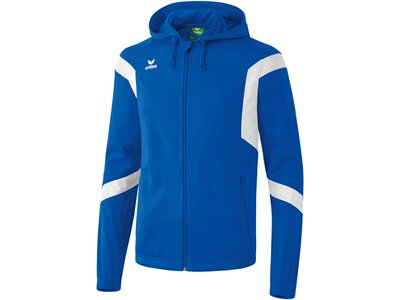 Erima Kinder Jacke Classic Team Trainingsjacke mit Kapuze Blau