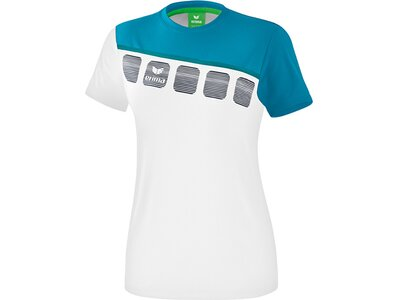 ERIMA Damen T-Shirt 5-C Weiß