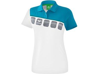 ERIMA Fußball - Teamsport Textil - Poloshirts 5-C Poloshirt Damen Weiß