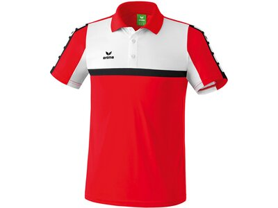 ERIMA Herren CLASSIC 5-CUBES Poloshirt Rot