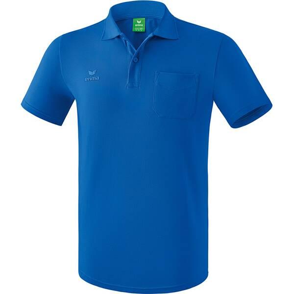 ERIMA Herren Poloshirt mit Brusttasche Blau