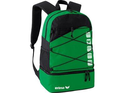 ERIMA Multifunktionsrucksack mit Bodenfach Grün