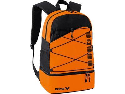 ERIMA Multifunktionsrucksack mit Bodenfach Orange
