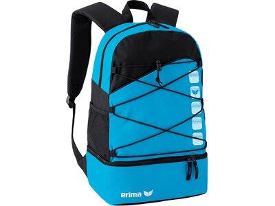 ERIMA Multifunktionsrucksack mit Bodenfach Blau