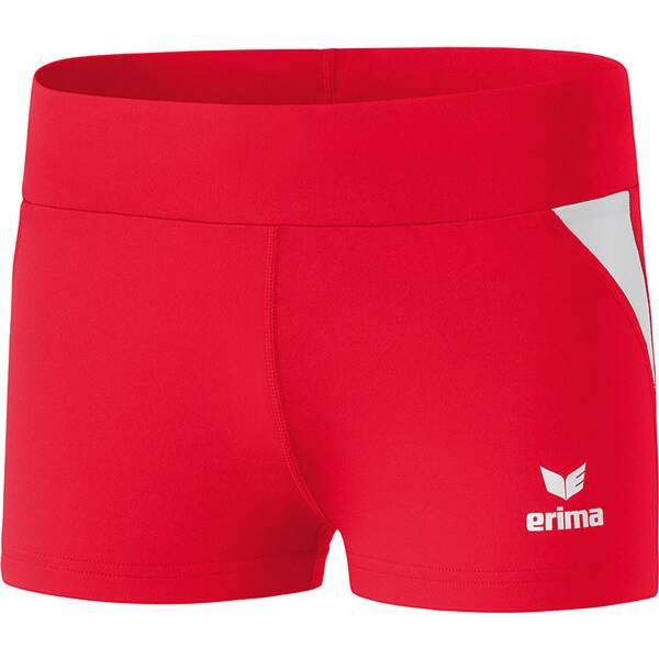 ERIMA Damen Hotpants | Bekleidung > Hosen > Hotpants | Rot - Weiß | ERIMA
