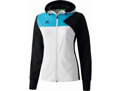 ERIMA Damen Premium One Trainingsjacke mit Kapuze Schwarz