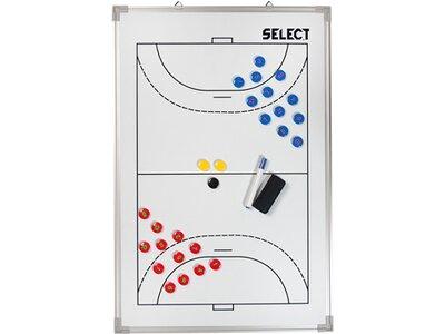 SELECT Taktiktafel Aluminium Handball Weiß