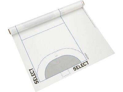 SELECT Ball Spielplanfolie Handball Weiß