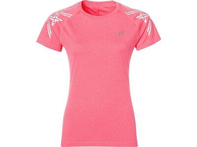 ASICS Damen Laufshirt Stripe S/S Pink