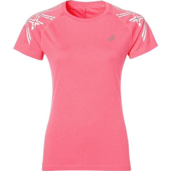ASICS Damen Laufshirt Stripe S/S