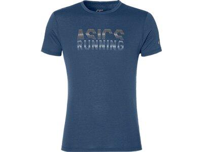 """ASICS Herren Laufshirt """"Graphic"""" Kurzarm Blau"""