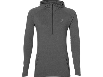 ASICS Damen Laufshirt / Sweatshirt LS Hoodie Langarm Grau