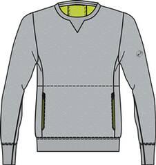 ASICS Herren Sweatshirt /  Laufshirt FuzeX Crew Langarm