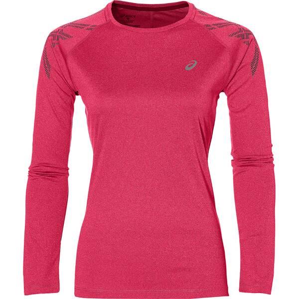 ASICS Damen Laufshirt Stripe LS Langarm Pink