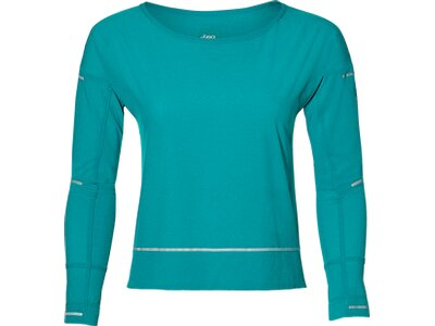 "ASICS Damen Laufshirt ""Liteshow Cover Up"" Langarm Blau"