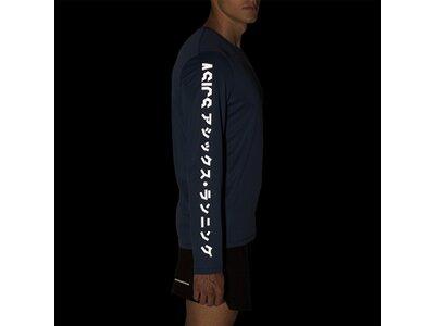 ASICS Herren Langarmlaufshirt Katakana Blau