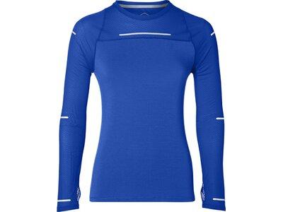 ASICS Damen Laufshirt LITE-SHOW LONG SLEEVE Blau