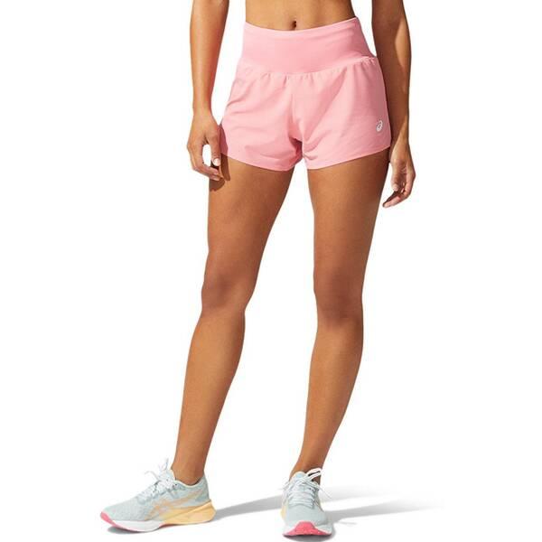 Hosen - ASICS Damen Laufshorts Road 3,5IN › Pink  - Onlineshop Intersport