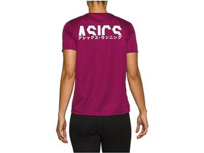 ASICS Damen Laufshirt Katakana Rot