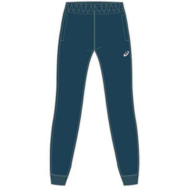 Hosen - ASICS Damen Caprihose ASICS BIG LOGO SWEAT PANT › Blau  - Onlineshop Intersport