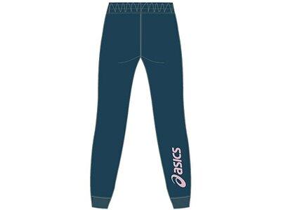 ASICS Damen Caprihose ASICS BIG LOGO SWEAT PANT Blau