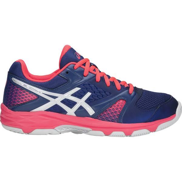 ASICS Damen Handballschuhe Gel Domain 4   Schuhe > Sportschuhe > Handballschuhe   Blue - Print - Silver   ASICS