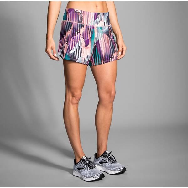 Hosen - BROOKS Damen Chaser 5 Short › Bunt  - Onlineshop Intersport