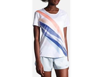 """BROOKS Damen Laufshirt """"Distance Short Sleeve"""" Kurzarm Weiß"""