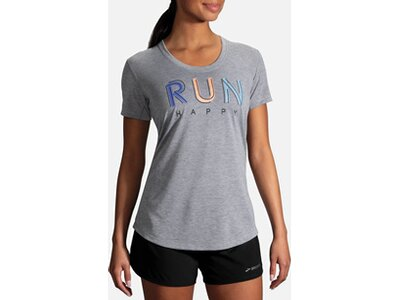 BROOKS Damen Distance Graphic Tee Bunt