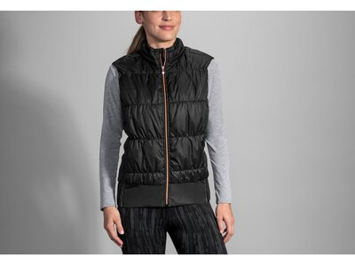 BROOKS Damen Cascadia Thermal Vest Schwarz