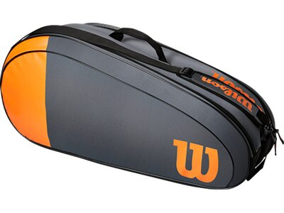 "WILSON Tennistasche ""Burn Team 6 Pack"" Grau"