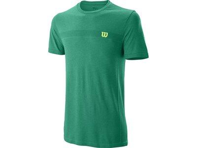 WILSON Herren Shirt M COMPETITION SEAMLESS CREW Grün