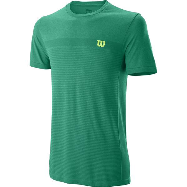 WILSON Herren Shirt M COMPETITION SEAMLESS CREW