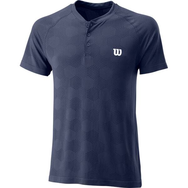 WILSON Herren T-Shirt POWER SEAMLESS HENLEY