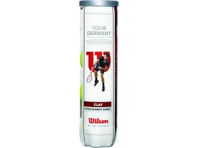 WILSON Tennisball TOUR GERMANY 4er Pack Weiß