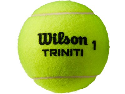 WILSON Tennisball TRINITI 4 BALL Gelb