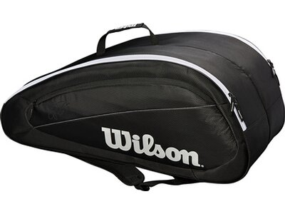 WILSON Tasche FED TEAM 12 PACK BKWH Schwarz