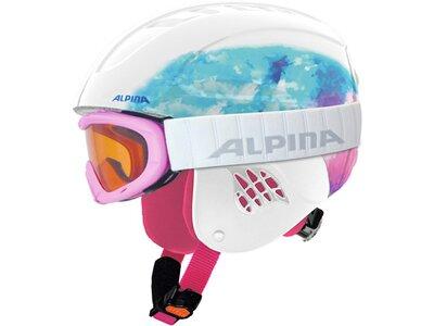 "ALPINA Kinder Skihelm ""Carat"" mit Skibrille ""Ruby S SH"" Set Grau"
