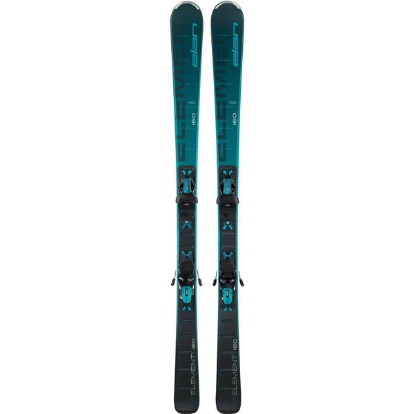 ELAN Damen All-Mountain Ski Element black/blue LS ELW 9.0 GW