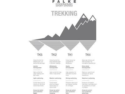 """FALKE Damen Trekking Socken """"TK2 Wool Silk"""" Grau"""