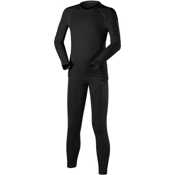 FALKE Kinder Ski- / Funktionsunterwäsche Garnitur Set Longsleeved Shirt + Long Tights