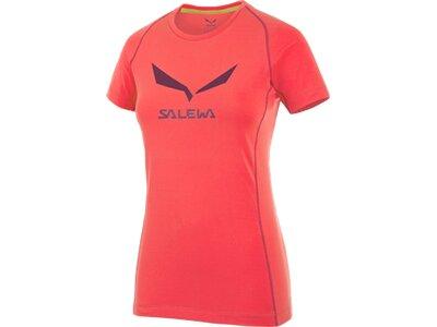 SALEWA Damen Shirt Solidlogo Dry W S/s TEE Orange