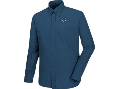 SALEWA Herren Shirt Agner DST Engineered M L/s Srt Blau