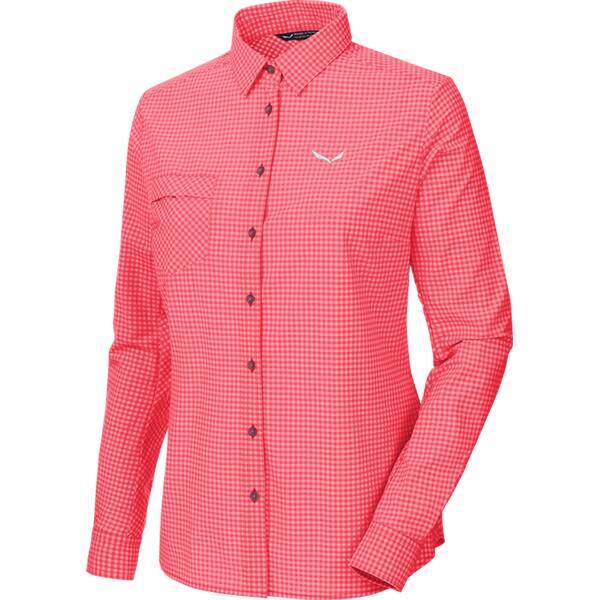 SALEWA Damen Bluse Puez Mini Check Dry W L/s Srt Pink