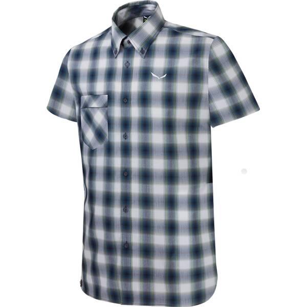 SALEWA Herren Hemd Fanes Check Dry M S/s Srt Grau