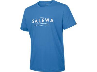 SALEWA Herren Shirt Puez Graphic Dry M S/s TEE Blau
