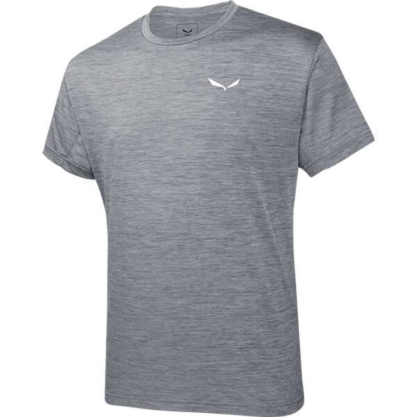 SALEWA Herren Shirt Puez Melange Dry M S/s TEE Grau