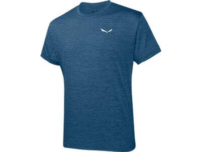 SALEWA Herren Shirt Puez Melange Dry M S/s TEE Blau